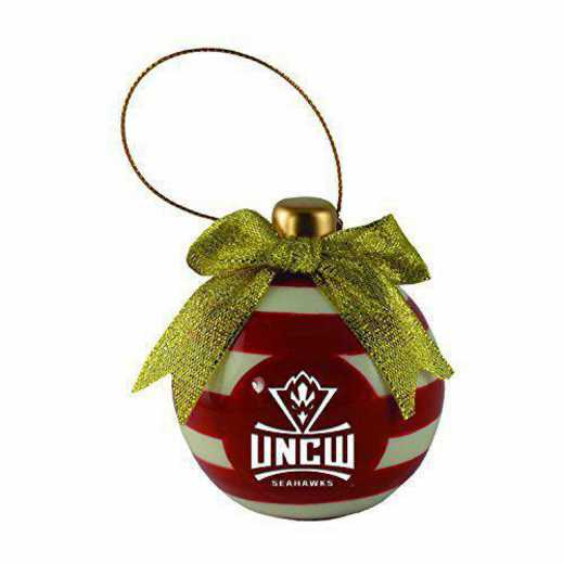 CER-4022-UNCWILM-IND: LXG CERAMIC BALL ORN, UNC - Wilmington
